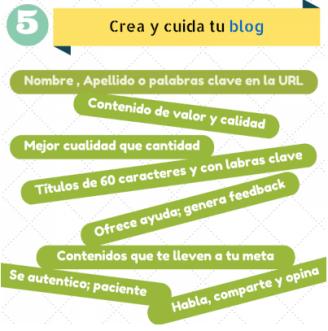 Marca Personal o Personal Branding - Crea y cuida tu blog