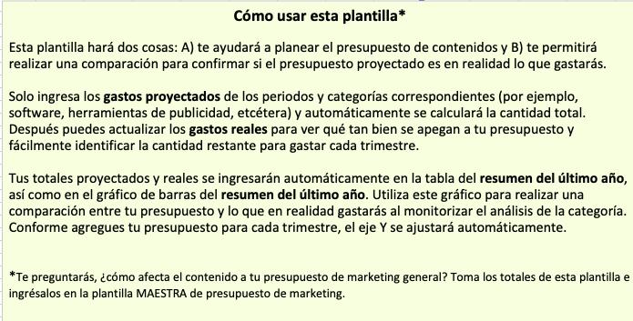 Plantillas de Marketing de Contenidos