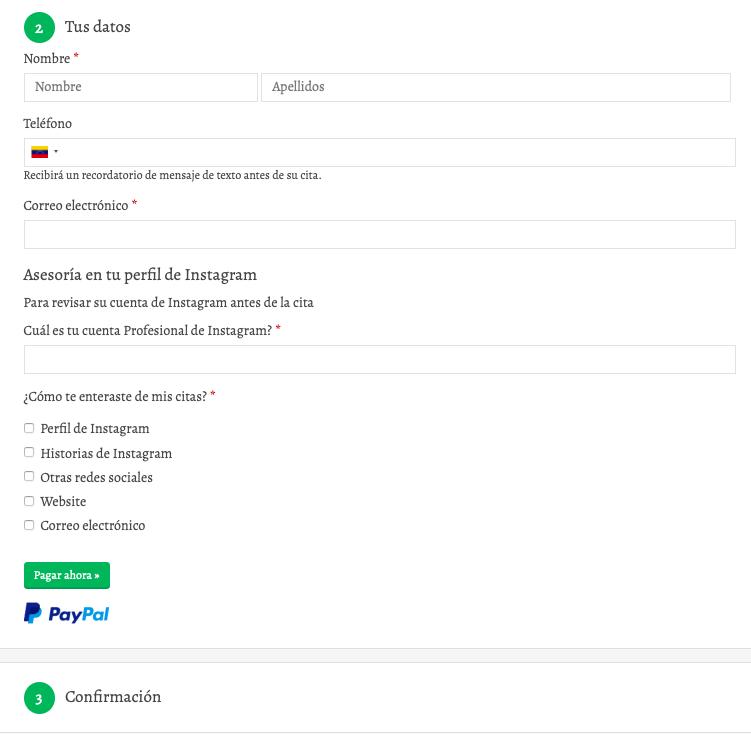 Reservar citas online por Acuity Scheduling