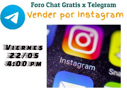 Foro Chat: Vender por Instagram by Carlos Villalobos